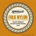 D'Addario / Folk Nylon EJ32 Silver on Nylon Black Trebles Ball End 28-45 【クラシックギター弦】【Classic Guitar Strings】【ガットギター弦】【Gut】【ナイロン弦】【Nylon】【セット弦】【ダダリオ】【DAddario】【EJ-32】【ボールエンド】【新宿店】