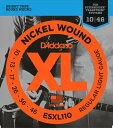 D'Addario / ESXL110 Regular Light 10-46 Double Ball End 【エレキギター弦】【Electric Guitar Strings】【セット弦】【ダダリオ】【Daddario】【レギュラーライト】【ダブルボールエンド】【スタインバーガー】【STEINBERGER】【ESXL-110】【新宿店】