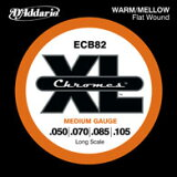 D'Addario / Chromes Flat Wound ECB82 Medium 50-105 Long Scale 【エレキベース弦】【Electric Bass Strings】【