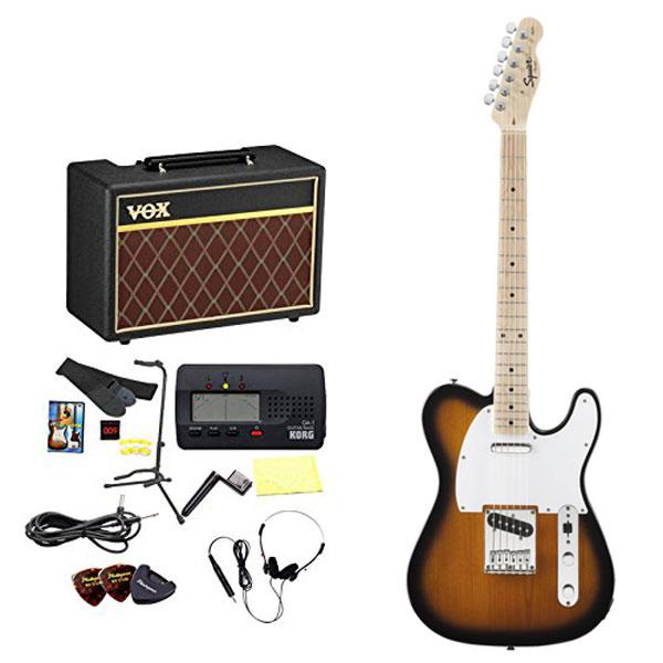 Squier by Fender / エレキギター入門セット Affinity Telecaster 2-Tone Sunburst Maple 【VOXアンプ&小物セット】 入門 初心者 《KORGチューナー缶プレゼント!/+811136100》