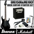 Ibanez / GIO Ibanez GRG150B BKN + MG10CF 【Ibanez × Marshall ロックギタースタートセット!】【10Wアンプ付きセット】(Black Night)《KORGチューナー缶プレゼント!/+811136100》【送料無料】