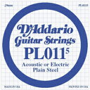 D'Addario / Acoustic or Electric Plain Steel PL0115 .0115 バラ弦 【★お取り寄せ】
