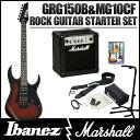 Ibanez / GIO Ibanez GRG150B WNS MG10CF 【Ibanez × Marshall ロックギタースタートセット!】【10Wアンプ付きセット】(Walnut Sunburst)