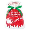 ギフトバッグ リボン付き巾着 クリスマス用 ラッピング 袋 Lサイズ (バスケットボール&サッカーボールの5号球用)