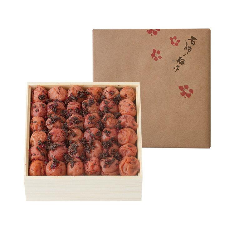 【紀州南高梅】かつお味梅[塩分8%] 木箱 1...の紹介画像2
