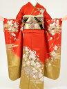 ショッピング安い 【レンタル】【振袖 レンタル】成人式着物 K1030 オレンジ裾金箔(成人式 結婚式 結納 お呼ばれ 振袖フルセット)