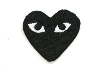 Ironing! Embroidered emblem black heart