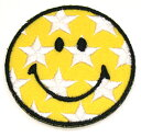 I write iron adhesion type ☆☆ review, and an email service is free shipping! Embroidery emblem star smile ♪( size)