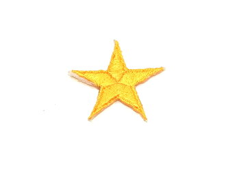 ☆!! Embroidered emblem ★ yellow star ☆