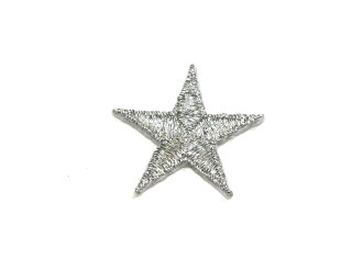 Embroidered emblem ★ Silver Star ☆ our popular No.2!