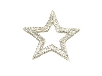 ☆!! Embroidered emblem ★ Silver Star ☆