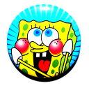 【缶バッチ !スポンジボブ!ブルー】 カンバッジ 缶バッジ カンバッチ 缶バッチ デコ メール便可  ...