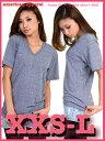 アメアパ数量割引あり!アメリカンアパレル アメアパ Vネック Tシャツ【American Apparel】ユニセックスサイズ Unisex Tri-Blend Short..