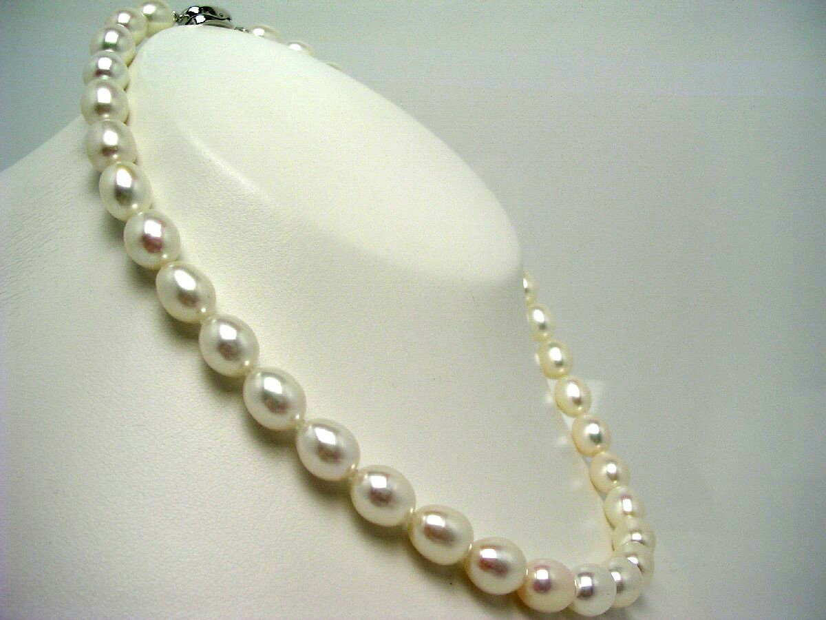 淡水真珠 ネックレス 8.5-9.0mm ホワイトピンク シルバー クラスップ 59039 イソワパール