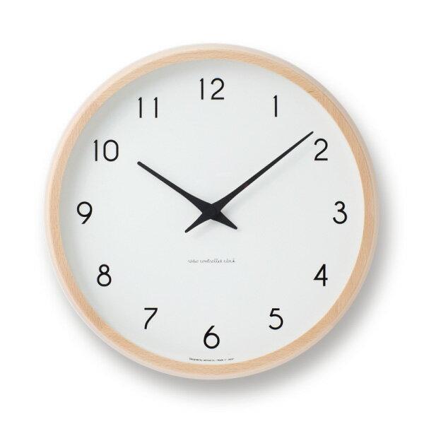 RoomClip商品情報 - 【16日1:59まで 2周年SALE】壁掛け時計 おしゃれ 北欧 レムノス 掛け時計 カンパーニュ 電波時計 壁掛け時計 時計 ブナ シンプル ナチュラル 可愛い 時 時計 壁掛け アナログ 時間 レムノスカンパーニュ Lemnos Campagne PC10-24W NT 239-00009 キャッシュレス 還元