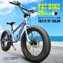 【送料無料】迫力の新極太タイヤファットバイク20インチちょうど良いサイズ!Wディ