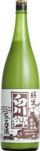 日本酒白川郷純米にごり酒三輪酒造1800ml1本