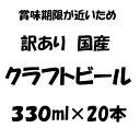 【賞味期限1か月未満】訳あり 国産クラフトビール 330ml×20本