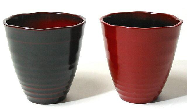 フリーカップ ペア 美月(日本製)漆塗りのペアグラス 焼酎グラス/ビアカップ 結婚祝いや内祝いに 和食器 漆器