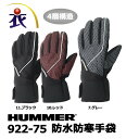 922-75 HUMMER防水防寒手袋