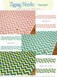 【つや消しラミネート】『Zigzag Nordic ≪ジグザグノルディック≫』(ビニールコーティング)素材:コットン100%(表:つや消しラミネート加工)生地幅:約106cm◎