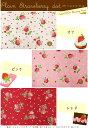 『Plain Strawberry dot ≪プレーンストロベリードット≫』コットン100%シーチングプリント素材:コットン100% 生地幅:約108cm