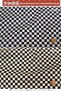 『市松模様』コットン100%スラブドビープリント素材:コットン100% 生地幅:約110cm