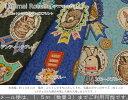 【50cm単位】『Animal Rosette≪アニマルロゼット≫』コットンリネンキャンバスプリント素材:コットン85%リネン15% 生地幅:約108cm動物/女の子/キッズ/綿麻/生地/ハンドメイド/手作り/ウェアー/小物/インテリア/