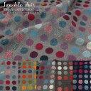 約140cmワイド幅ウール混ファブリック『jumble dots≪ジャンブルドット≫』【厚手】素材:...