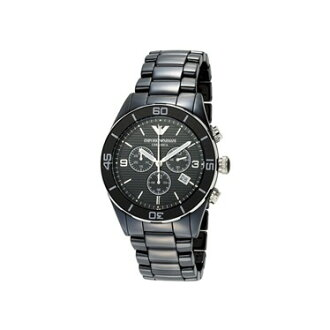 EMPORIO ARMANI / Emporio armani AR1421 clock men watch ceramic chronograph black