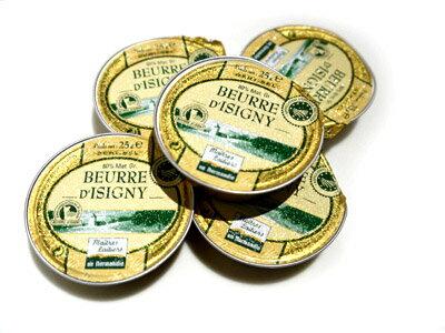有塩 バター フランス ノルマンディー産 イズニー Isigni AOP 25g×5個 セット【10P03Dec16】【RCP】
