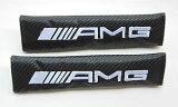因为是在意大利销售商品得到困难的类型!!梅赛德斯·奔驰Mercedes Benz AMG的安全带盖子垫(2件套)的标志[イタリアで販売している商品ですので入手が困難なタイプ!!メルセデスベンツMercedes Benz AMGのシートベルトカバ