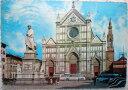 1965年発行のトスカーナ,フィレンツェFirenzeお部屋のインテリアにイタリアのアンティークショップで見つけた絵ハガキと切手