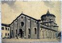 1958年発行のミラノの風景お部屋のインテリアにイタリアのアンティークショップで見つけた絵ハガキと切手と雑貨
