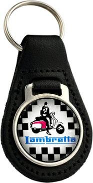 ランブレッタ Lambretta -Motorcyclesのレザー本革バイク用キーホルダー(オールド,クラシックタイプ)