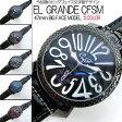 トップリューズ式ビッグフェイス腕時計 フレームチェック47mm GaGa MILANO ガガミラノ好きに(全5色) 送料無料 (smtb-tk)