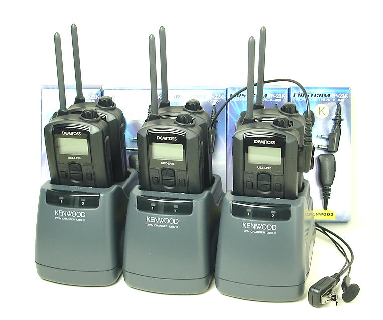 (6組セット)インカム ケンウッド/特定小電力トランシーバーUBZ-LP20(ブラック)新4点セットにツイン充電器を採用 (送料・代引手数料無料)