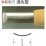 三木章刃物本舗 安来鋼彫刻刀単品 浅丸型 13.5mm、15mm