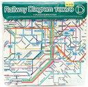 ショッピング鉄道 【メール便送料無料】東京カートグラフィック 鉄道路線図ハンカチ 首都圏 英語 RHSE