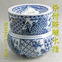 【茶道具】染付鮟鱇型水指万古焼清宝窯(ボール箱)