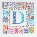 ◆DMCクロスステッチ刺繍キット(BK1208) Patch letter パッチレター◆刺しゅうキット アルファベット
