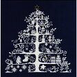 ◆クリスマスツリー刺繍キット(JPBK557N)ネイビー◆DMC製クロスステッチキット/限定品[手芸]【RCP】【HLS_DU】05P03Dec16【コンビニ受取対応商品】