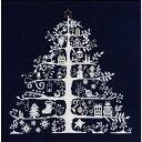 ◆クリスマスツリー刺繍キット(JPBK557N)ネイビー◆DMC製クロスステッチキット/限定品[手芸]【RCP】【HLS_DU】05P01Oct16【コンビニ受取対応商品】