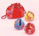 ◆京ちりめんシリーズ ほおずきのお手玉[LH-332 (赤・青・黄)]◆パナミ 和調手芸 下げ飾り ちりめん細工