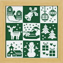◆X-103 クリスマス(グリーン)初〜中級◆オリムパス クロスステッチ刺繍キット 【RCP】【HLS_DU】05P03Dec16【コンビニ受取対応商品】