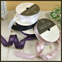 ◆Frill satin ribbon (No. 4895) 21mm width cut selling (1m unit )◆ wooden horse (MOKUBA))
