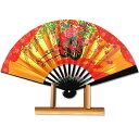 海外向けお土産★台付き茶扇飾り扇子/花車