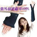 【UVカット アイスコットン アームカバー ロング 接触冷感 UV・紫外線対策】99% 100% ずれにくい 指だし スマホもらくらく 日本製 ロング