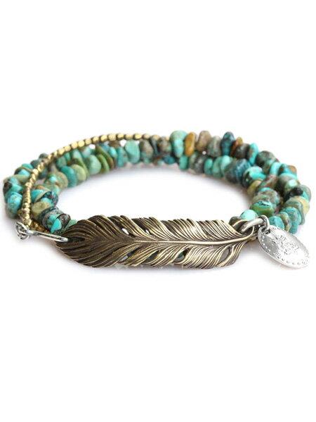 HARIM(ハリム)3WAY Torquoise Feather BR / フェザー・ブレスレット・ブレス【送料無料】 HARIM(ハリム)[正規取扱店]【最短即日発送】【後払い・返品OK!】