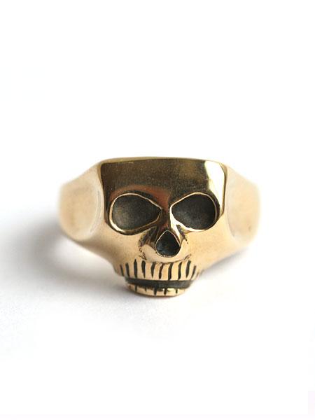Flash Point(フラッシュポイント)18K GOLD JIM SKULL RING ゴールドジムスカルリング / 指輪 ドクロ 骸骨 イエローゴールド 金 ユニセックス メンズ レディース【送料無料】